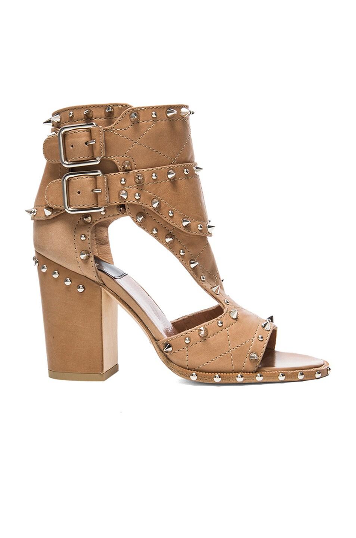 Image 1 of Laurence Dacade Deric Calfskin Leather Heels in Beige & Silver