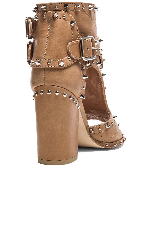 Image 3 of Laurence Dacade Deric Calfskin Leather Heels in Beige & Silver