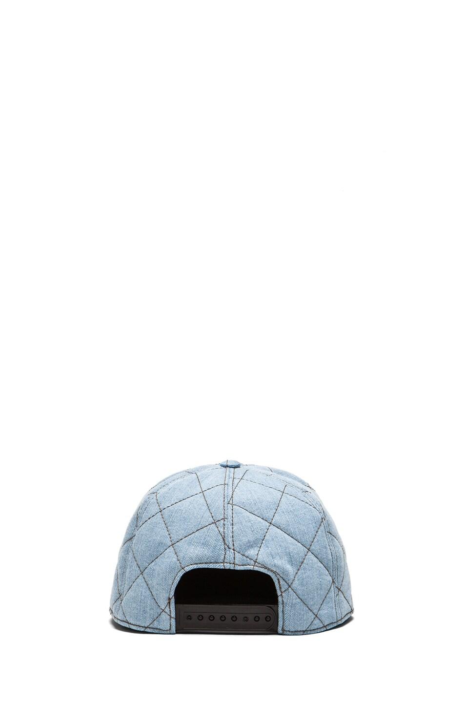 Image 4 of Moschino Denim Logo Hat in Light Blue