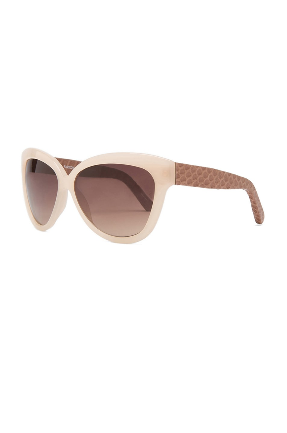 Image 2 of Linda Farrow Curved Square Polarized Sunglasses in Taupe