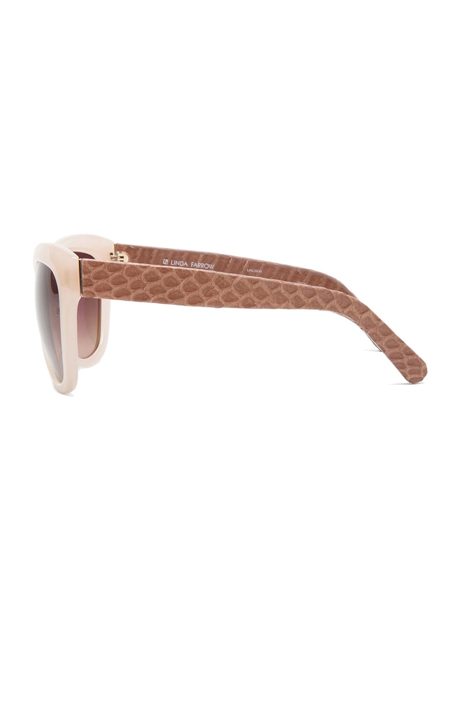 Image 3 of Linda Farrow Curved Square Polarized Sunglasses in Taupe
