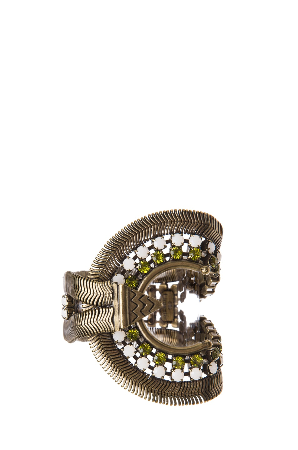 Image 1 of Lionette by Noa Sade Soho Plated Brass Bracelet in Gold, White & Olive