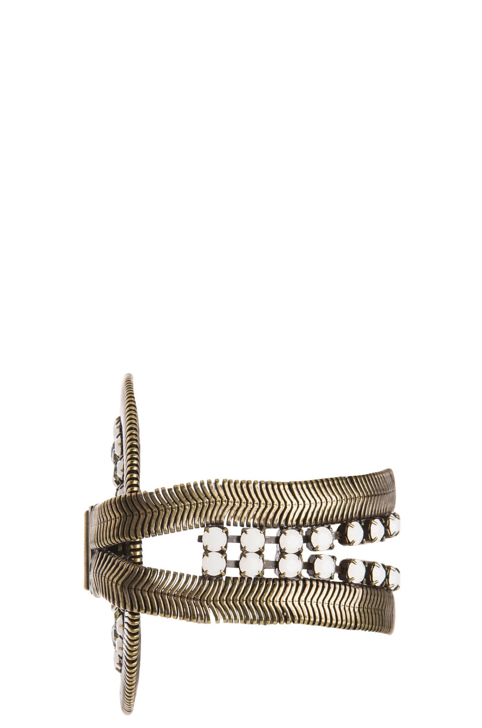 Image 2 of Lionette by Noa Sade Soho Plated Brass Bracelet in Gold, White & Olive