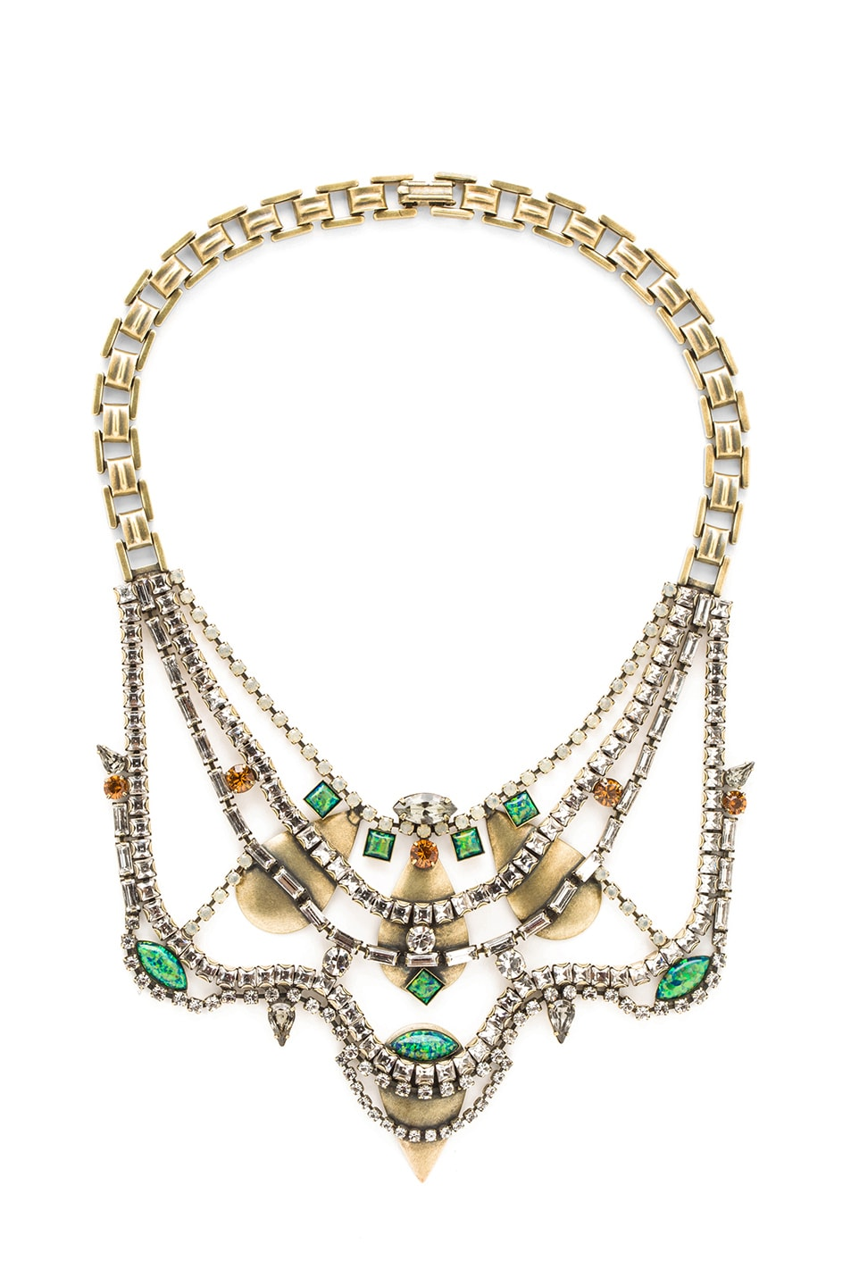 Image 1 of Lionette Shemesh Antique Plated Necklace in Turquoise