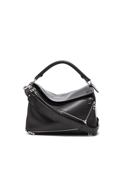 Image 1 of Loewe Puzzle Zips Bag in Black