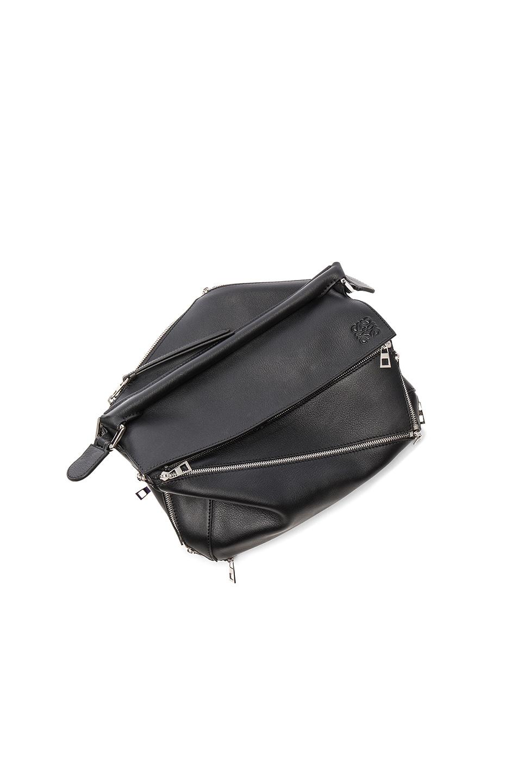 Image 6 of Loewe Puzzle Zips Bag in Black