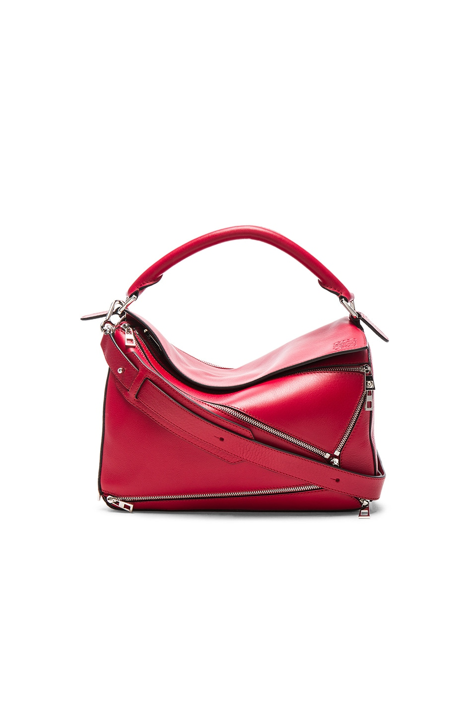 Image 1 of Loewe Puzzle Zips Bag in Rouge