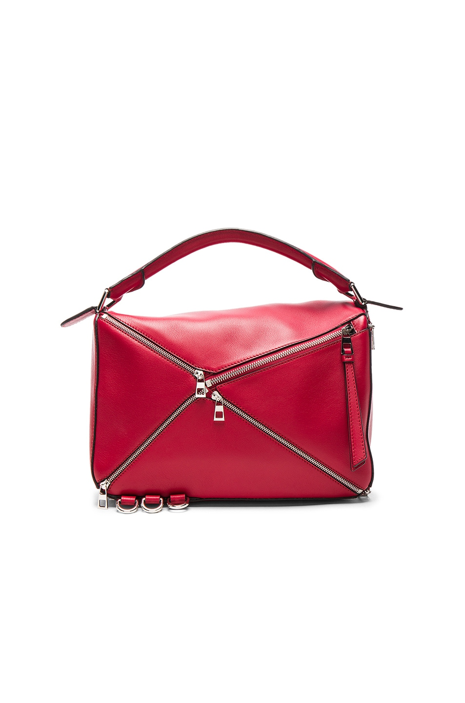 Image 2 of Loewe Puzzle Zips Bag in Rouge