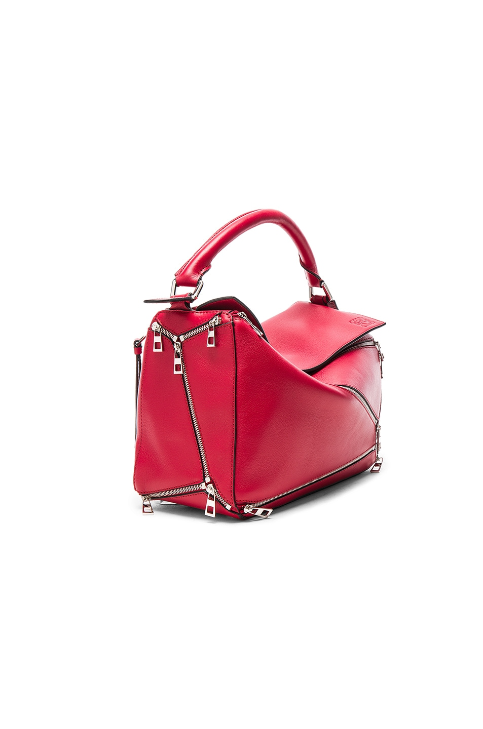 Image 3 of Loewe Puzzle Zips Bag in Rouge
