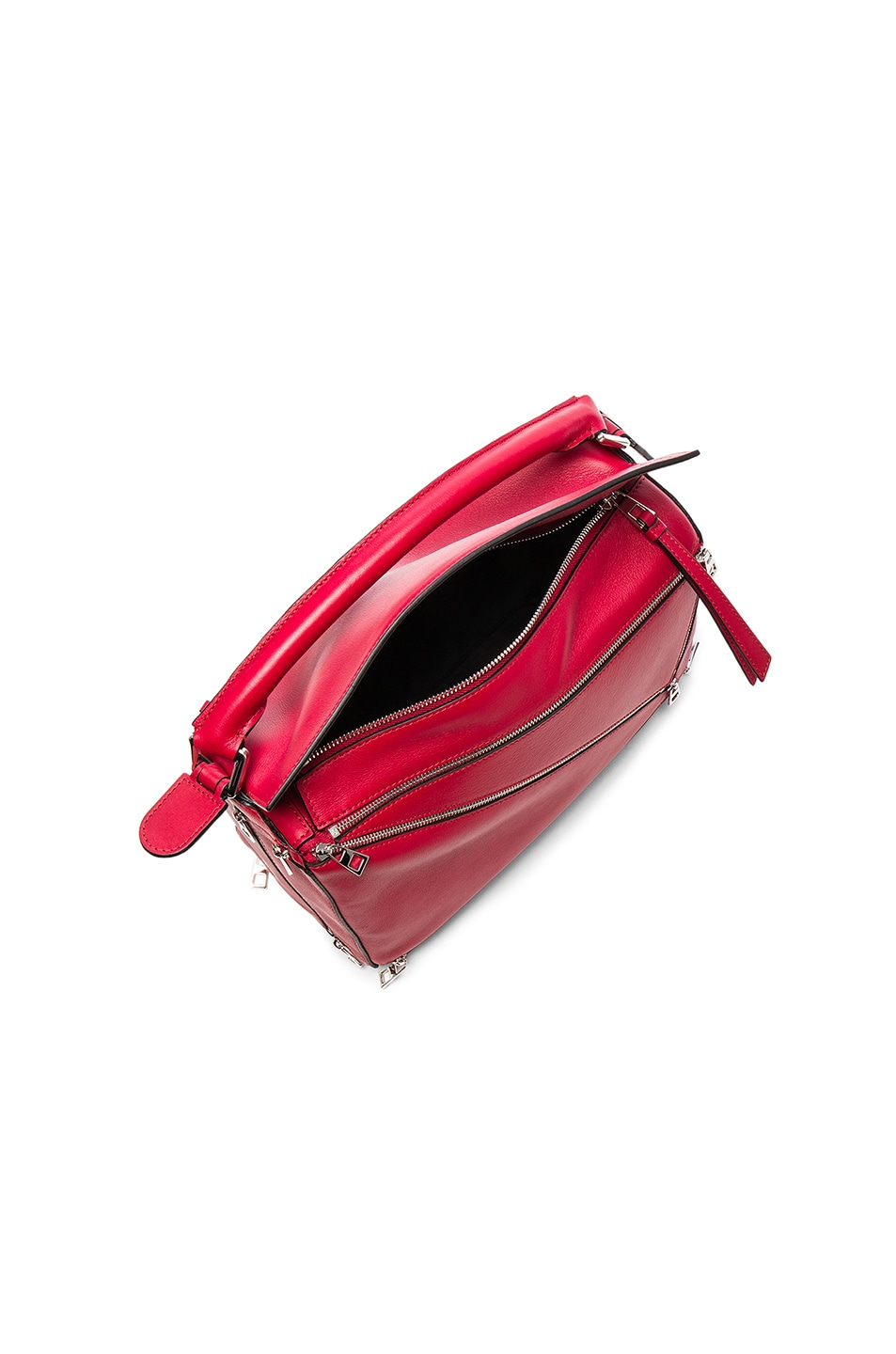 Image 4 of Loewe Puzzle Zips Bag in Rouge