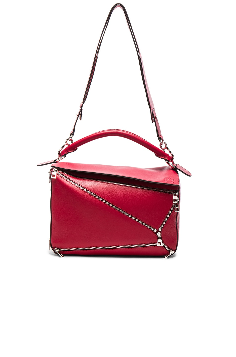 Image 5 of Loewe Puzzle Zips Bag in Rouge