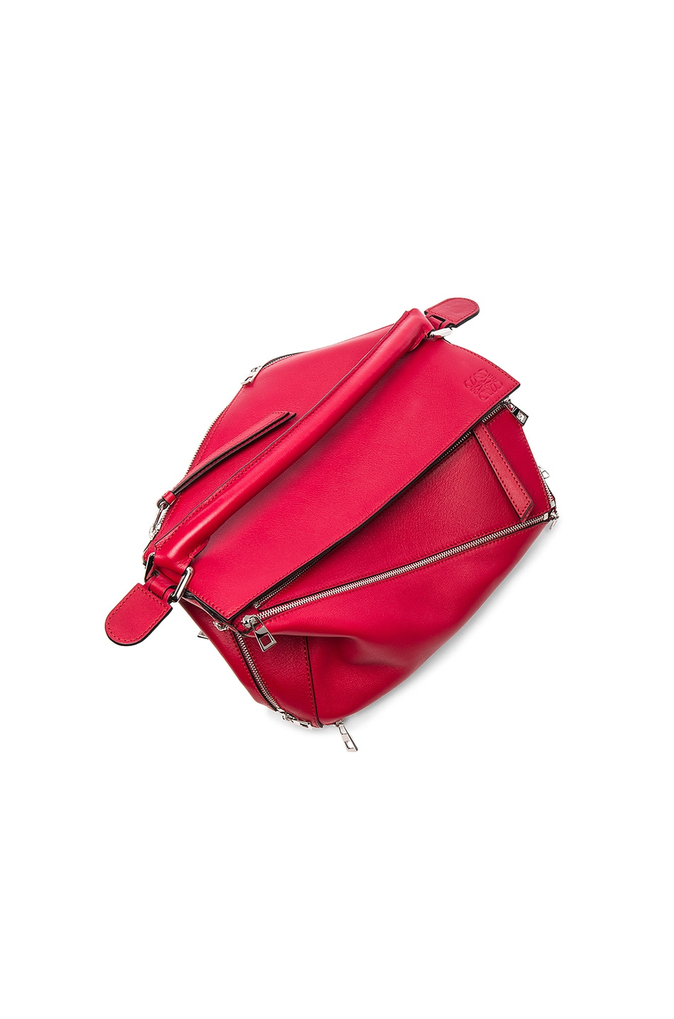 Image 6 of Loewe Puzzle Zips Bag in Rouge