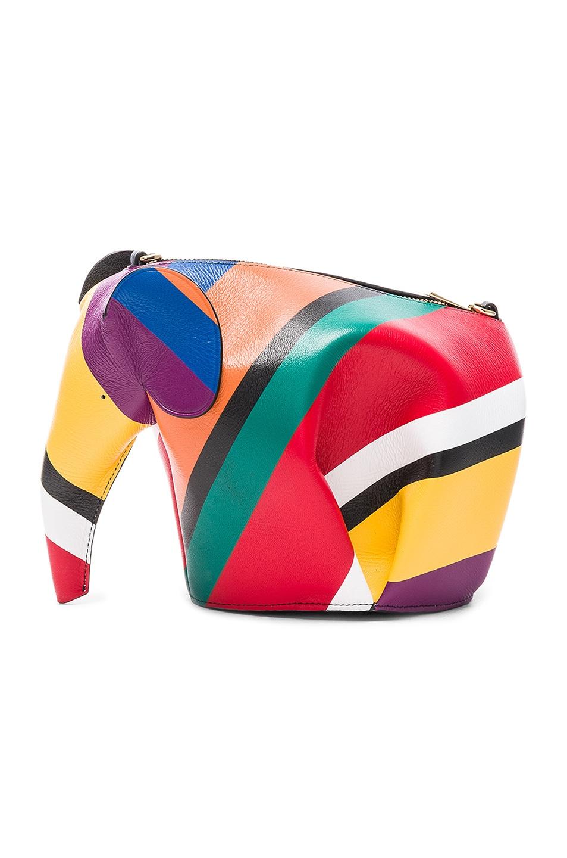 Image 3 of Loewe Elephant Mini Bag in Multicolor