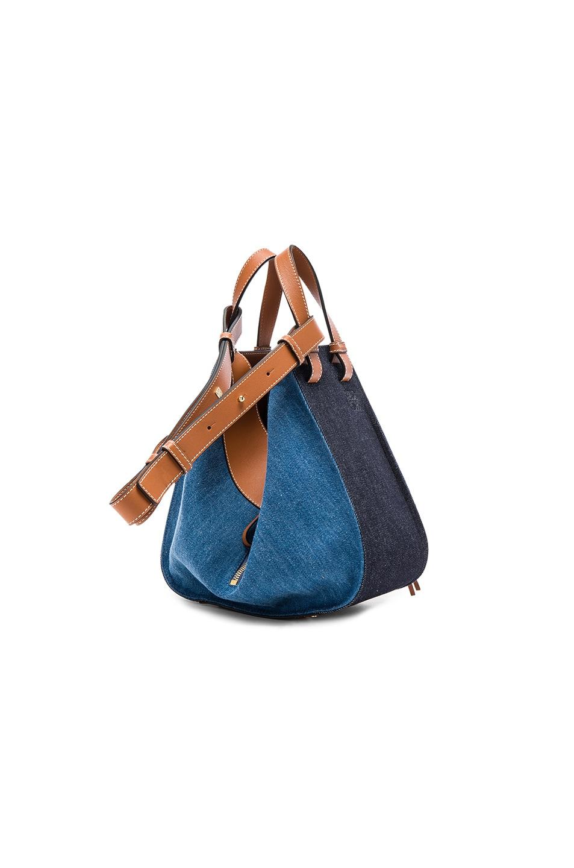 Image 3 of Loewe Hammock Small Bag in Denim & Tan