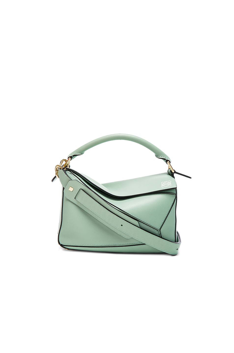 Image 1 of Loewe Puzzle Small Bag in Sea Water Green