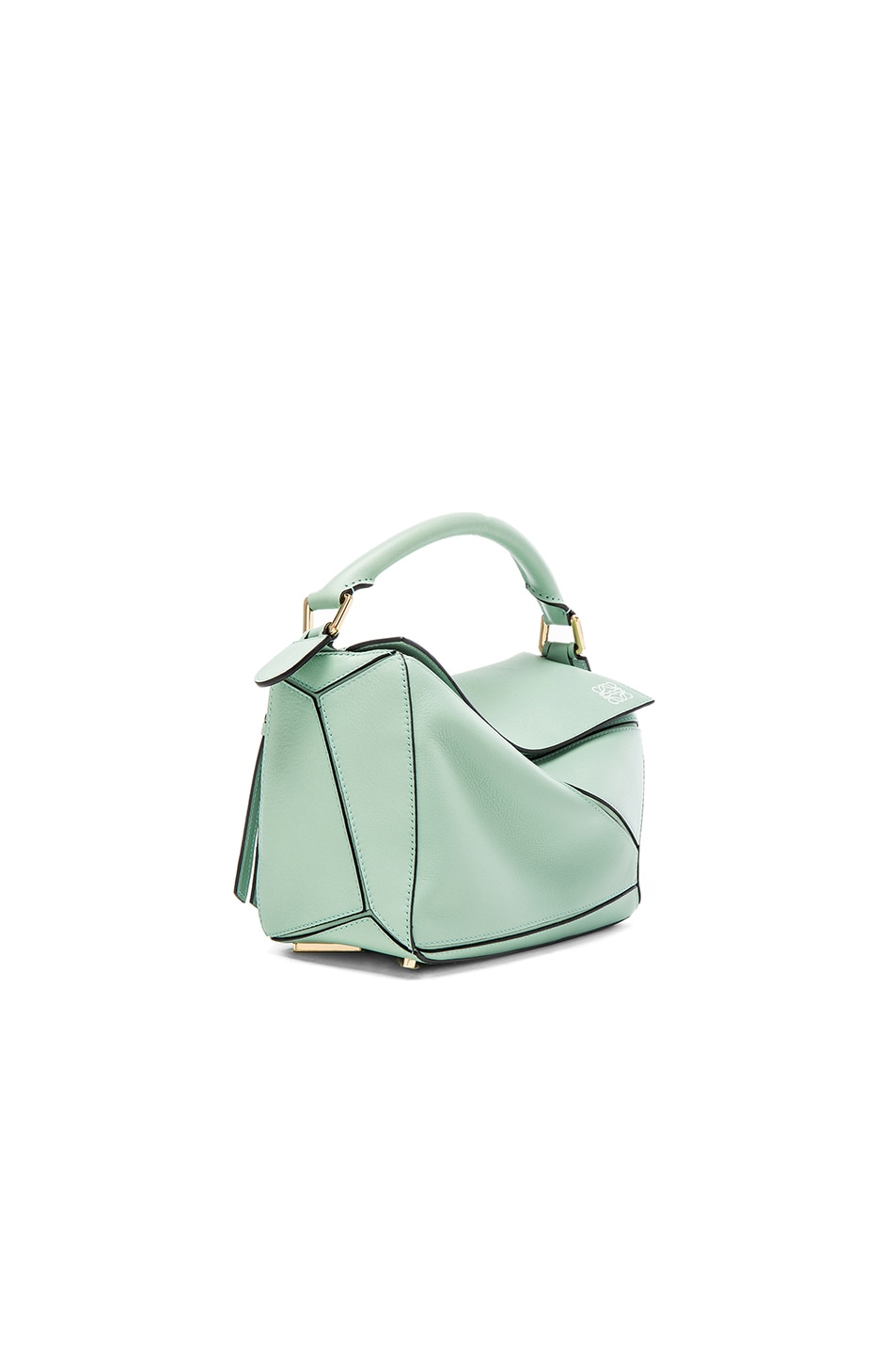 Image 3 of Loewe Puzzle Small Bag in Sea Water Green