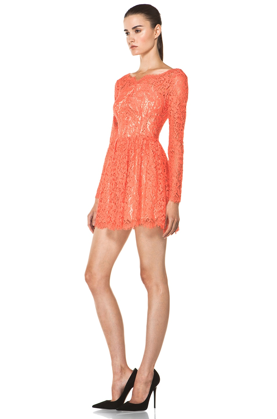 Image 2 of Lover Millie Lace Dress in Flamingo