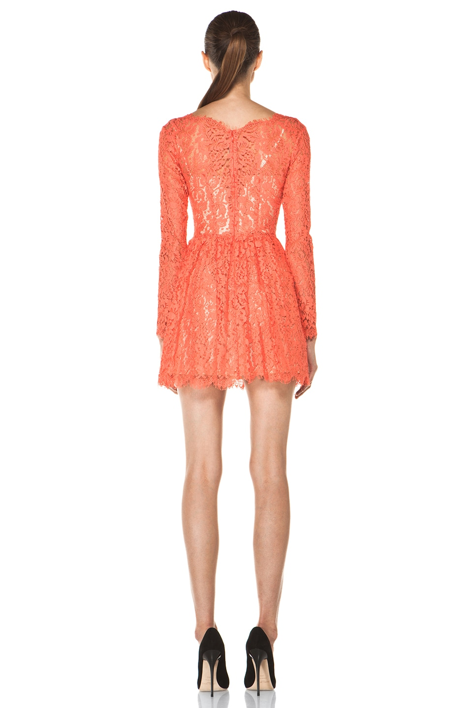Image 4 of Lover Millie Lace Dress in Flamingo