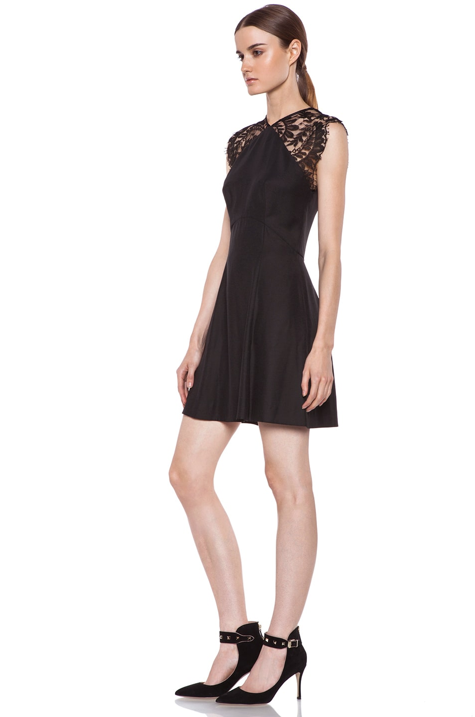 Image 2 of Lover Alice A-Line Viscose Dress in Black