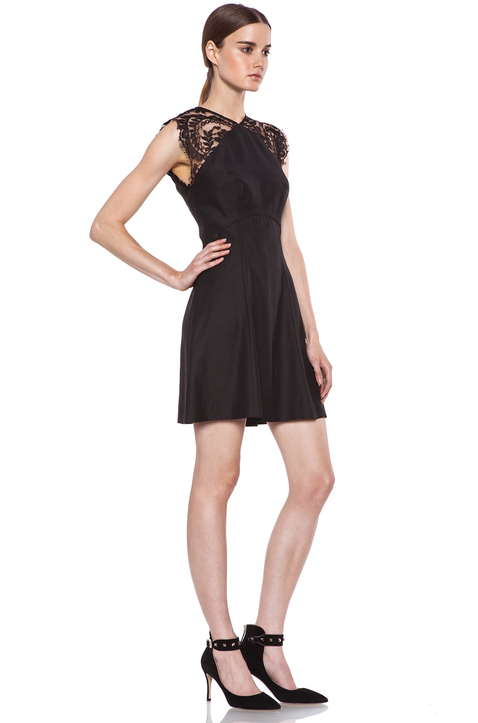 Image 3 of Lover Alice A-Line Viscose Dress in Black