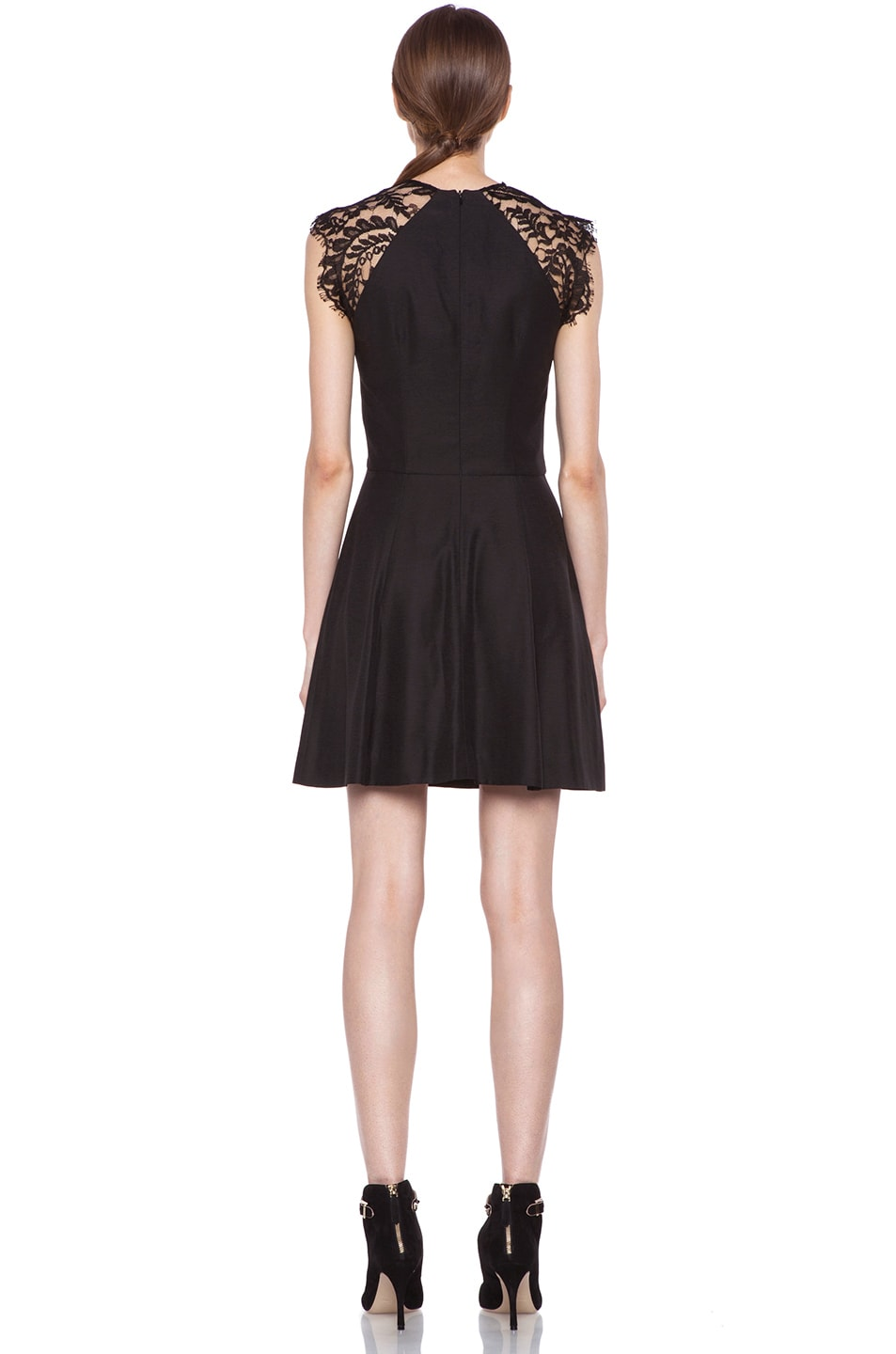 Image 4 of Lover Alice A-Line Viscose Dress in Black