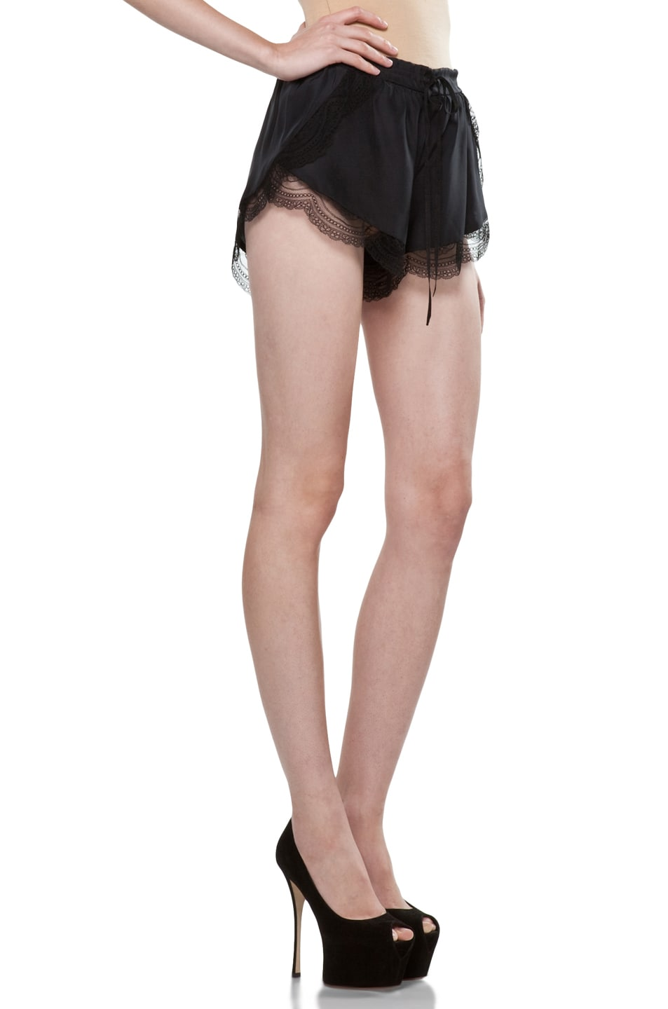 Image 3 of Lover Mystical Cami Shorts in Black