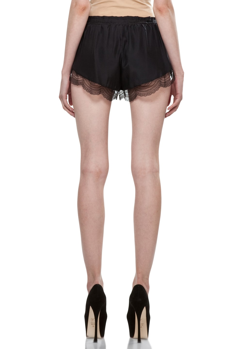 Image 4 of Lover Mystical Cami Shorts in Black