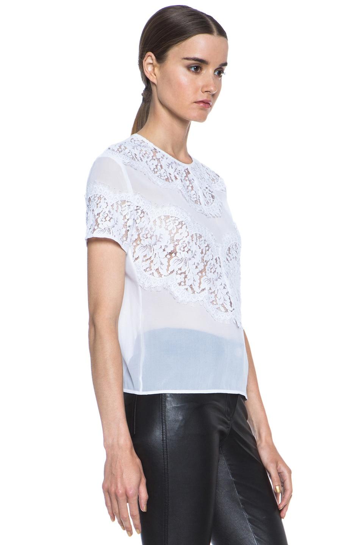 Image 3 of Lover V Bodice Silk Blouse in White