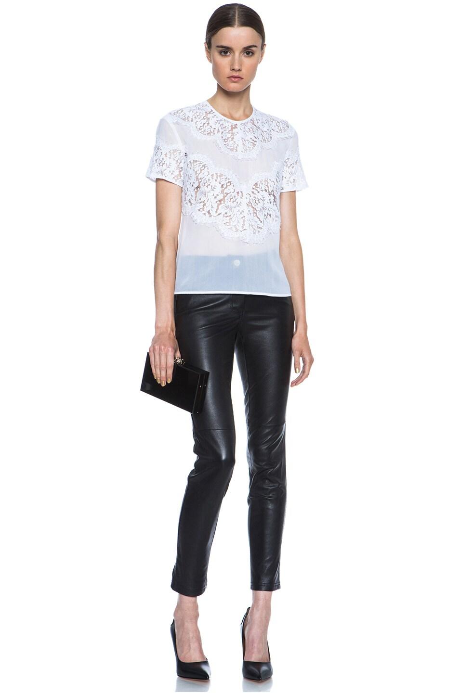 Image 5 of Lover V Bodice Silk Blouse in White