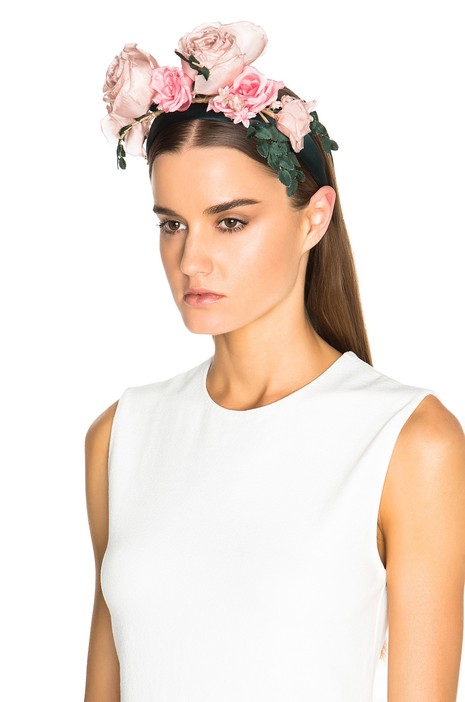 Image 2 of Maison Michel Betty Headband in Rose