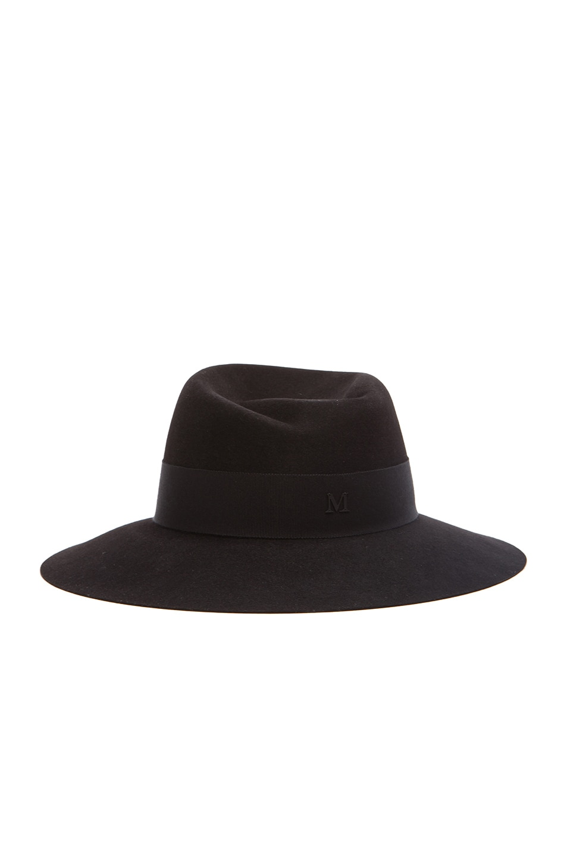 Image 3 of Maison Michel Virginie Large Brim Hat in Black