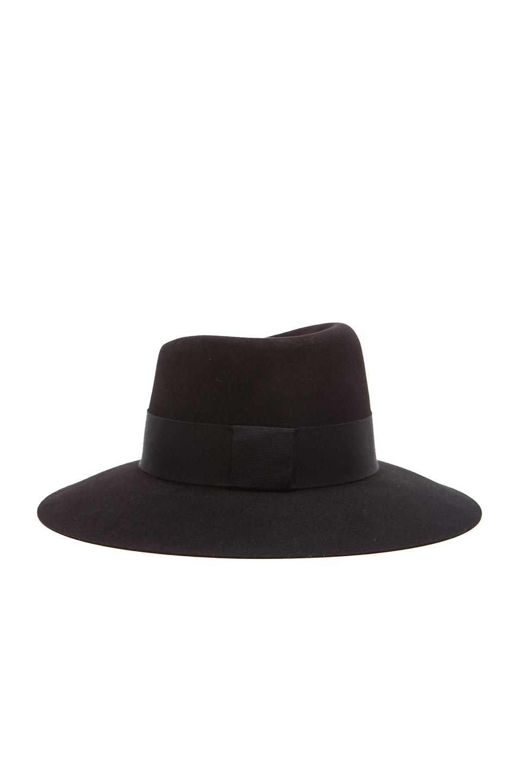Image 5 of Maison Michel Virginie Large Brim Hat in Black