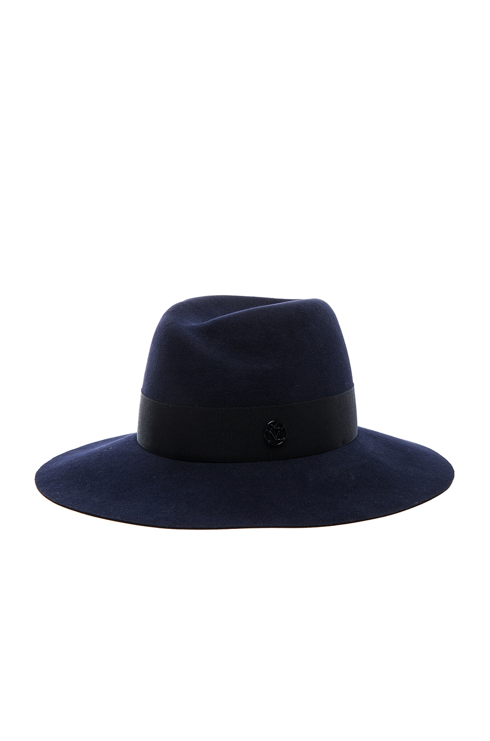 Image 2 of Maison Michel Virginie Felt Hat in Navy