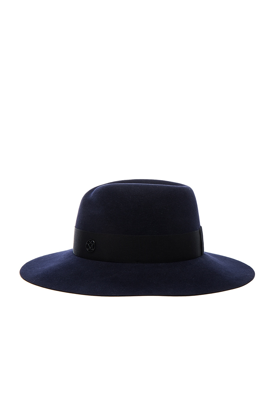 Image 3 of Maison Michel Virginie Felt Hat in Navy