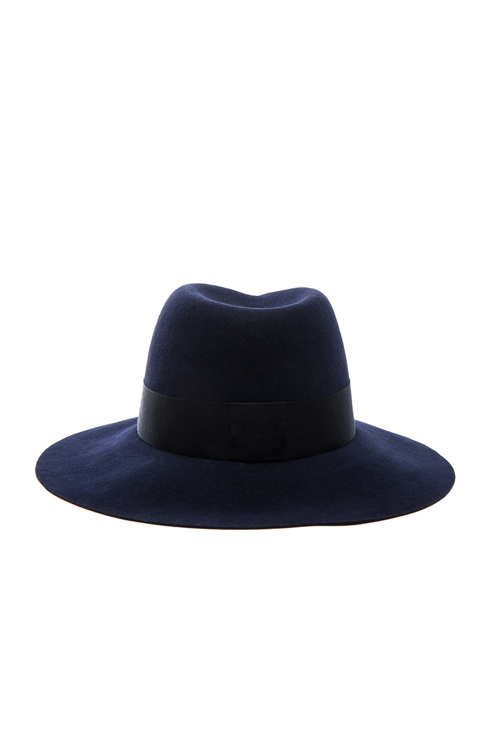 Image 4 of Maison Michel Virginie Felt Hat in Navy