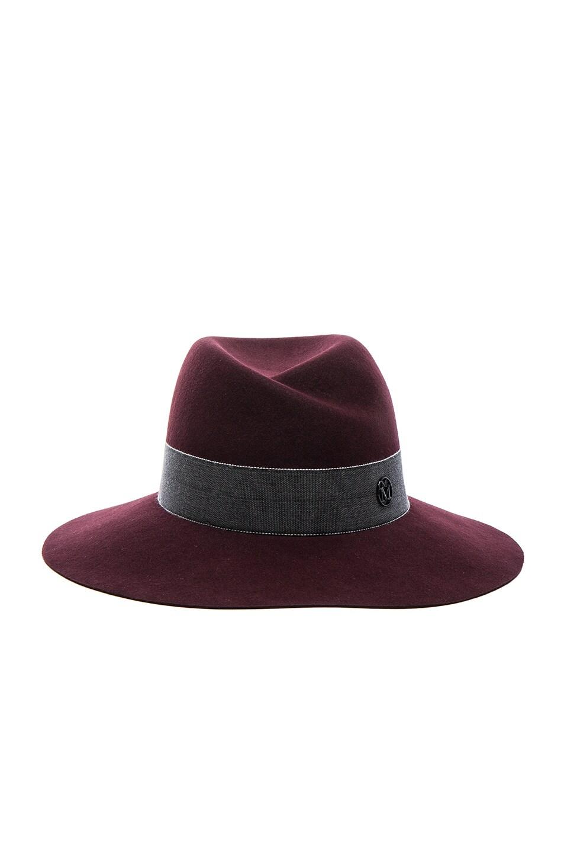 Image 1 of Maison Michel Virginie Hat in Rouge Noir
