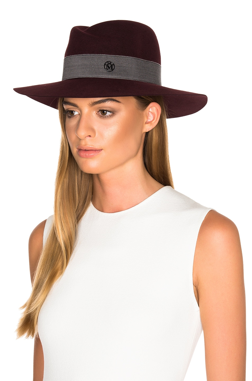 Image 2 of Maison Michel Virginie Hat in Rouge Noir
