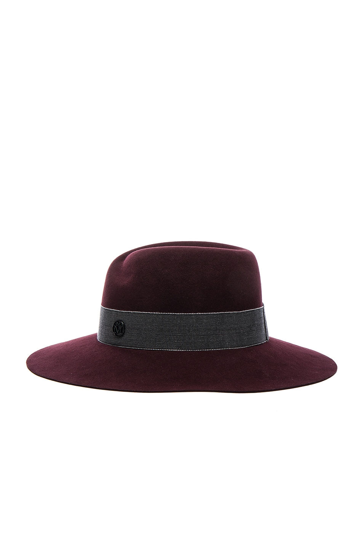 Image 4 of Maison Michel Virginie Hat in Rouge Noir
