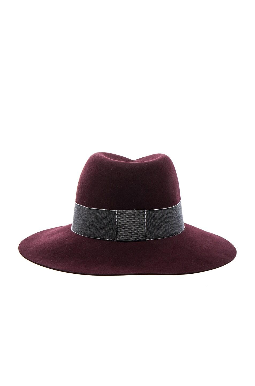 Image 5 of Maison Michel Virginie Hat in Rouge Noir