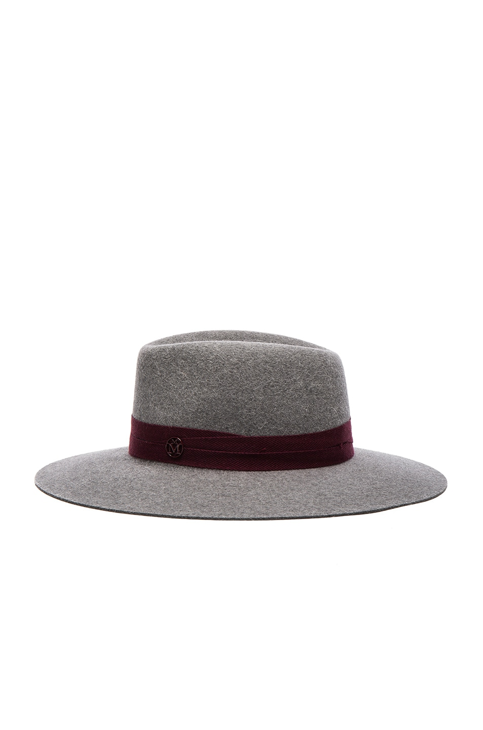Image 3 of Maison Michel Charles Hat in Grey & Bordeaux