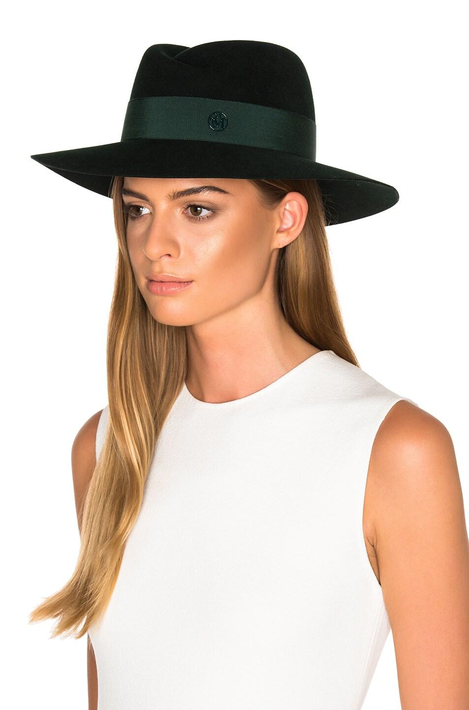 Image 2 of Maison Michel Virginie Hat in Study Green