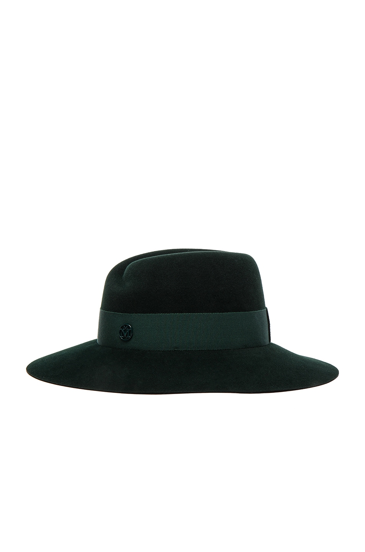 Image 4 of Maison Michel Virginie Hat in Study Green