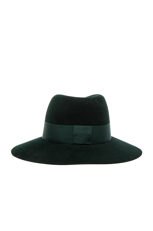 Image 5 of Maison Michel Virginie Hat in Study Green