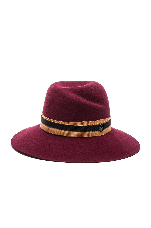 Image 1 of Maison Michel Virginie Hat in Sticky Cherry