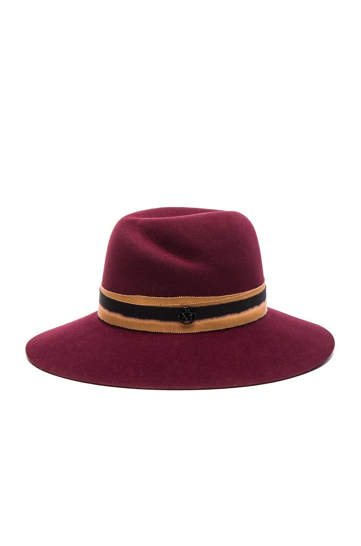 Image 2 of Maison Michel Virginie Hat in Sticky Cherry