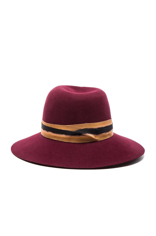 Image 4 of Maison Michel Virginie Hat in Sticky Cherry