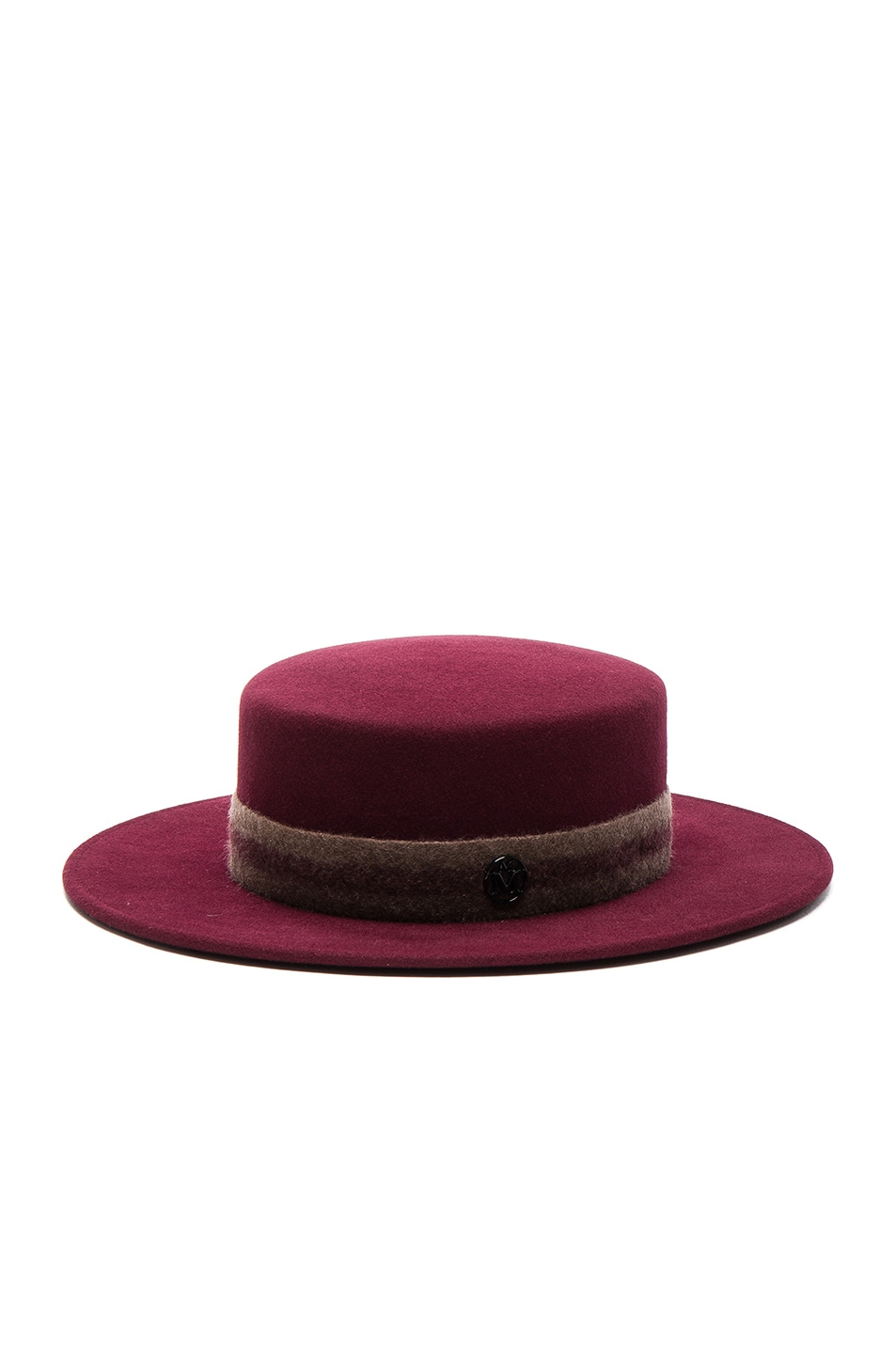 Image 2 of Maison Michel Kiki Hat in Sticky Cherry