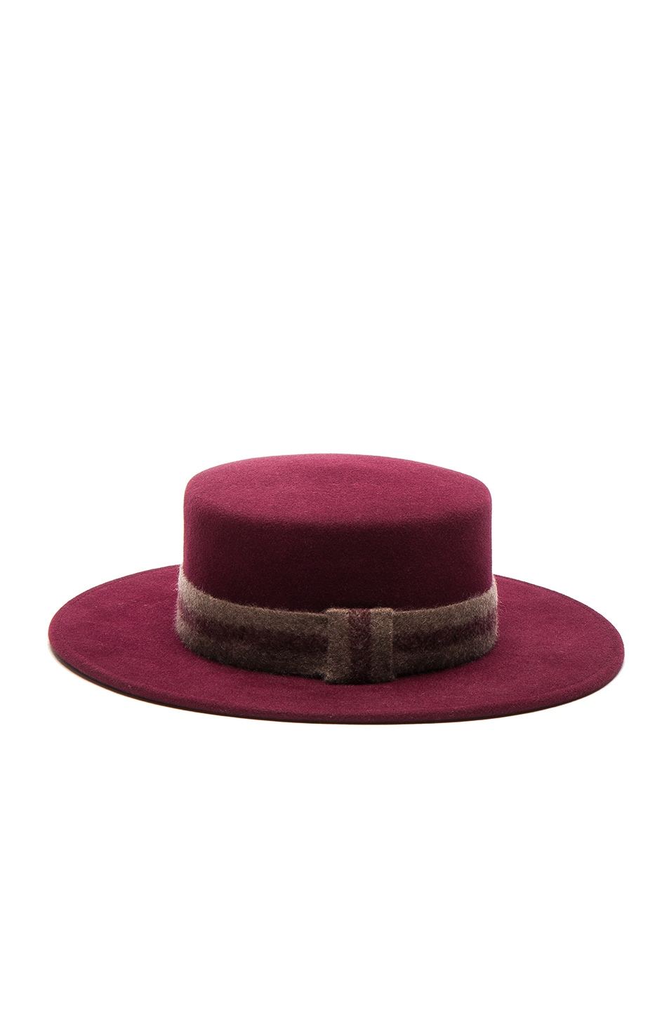 Image 4 of Maison Michel Kiki Hat in Sticky Cherry