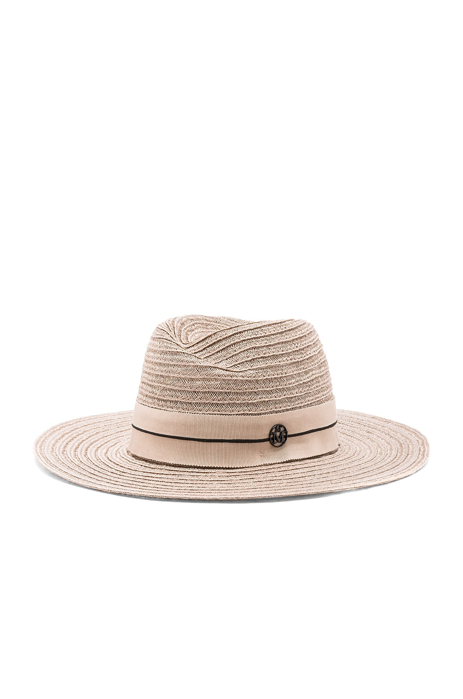 Image 2 of Maison Michel Virginie Straw Hat in Light Rose