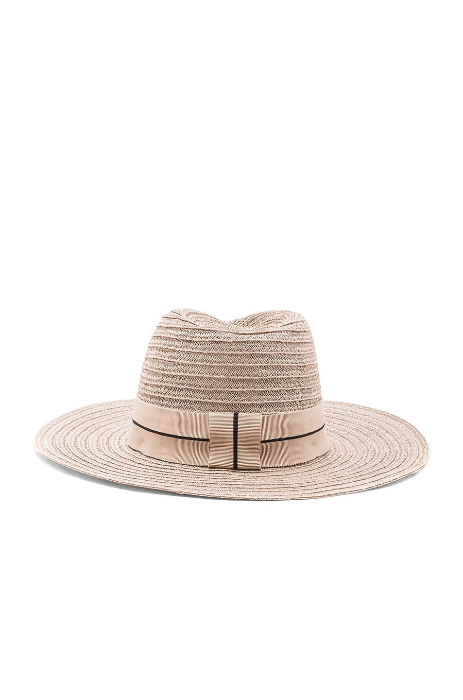 Image 4 of Maison Michel Virginie Straw Hat in Light Rose